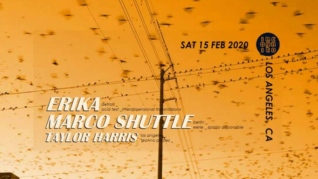 2020-02-15 INCOGNITO presents MARCO SHUTTLE & ERIKA