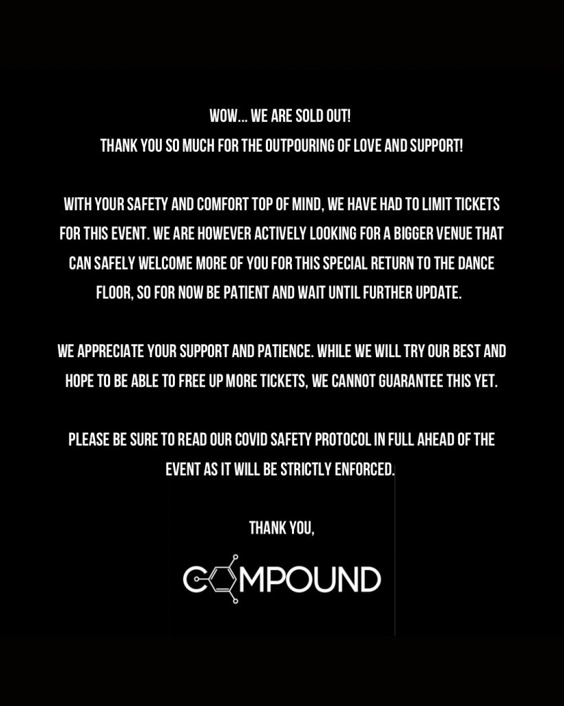 COMPOUND Summer 2021 - Sold Out - Message