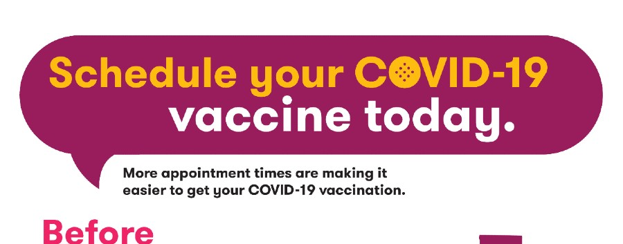 Schedule your COVID-19 vaccine today - top